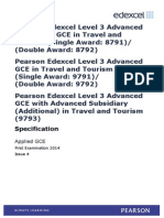 UA035252 GCE in Travel and Tourism (Dble Awd) Issue 4
