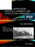 the 1930s the depression statistics numbers and effects on canadians