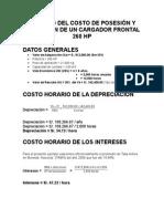 1 Cálculo Del Costo de Posesión y Operación de Un Cargador Frontal 260 Hp