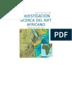 Investigacion Acerca Del Rift Africano