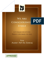 We Are Consciousness Itself Adi Da Samraj A4 Print