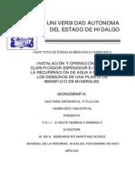 Instalacion y Operacion de Un Clarificador