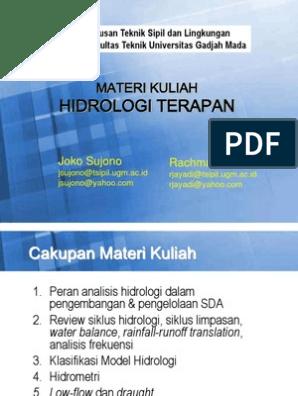 Materi Kuliah Hidrologi Terapan