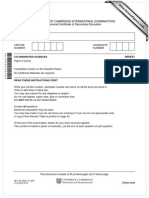 0654 2013 IGCSE Coordinated Sciences Paper 2
