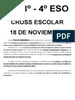 Preparación Cross 2º, 3º y 4º ESO