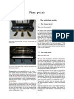 Tipos de Pedales de Piano