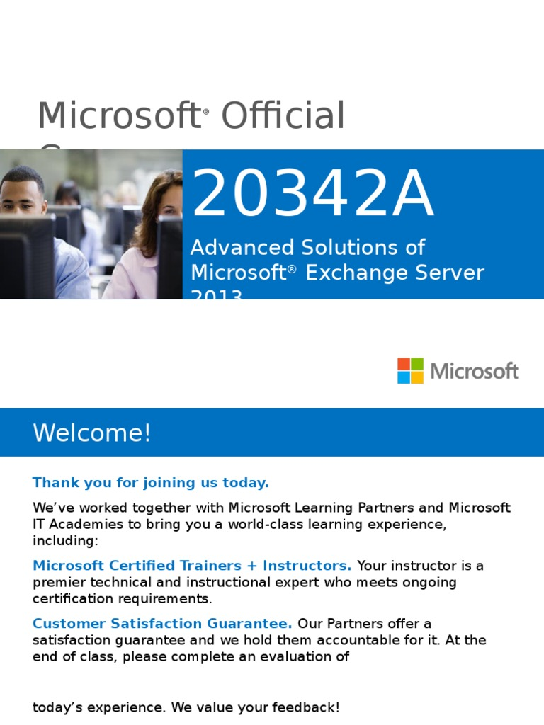 20342a00 Microsoft Exchange Server Professional Certification