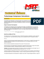 MRT Technical Turbocharger Compressor Calculations