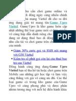 Game Upro Kho Game Dành Cho Mobile