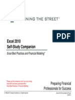 Excel 2010 Self Study Companion