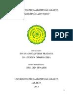 Kemuhammadiyahan_Irvan Angga Febry Pradana_Teknik Informatika_D3 Semester 1