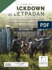 HARVARD:Crackdown LETPADAUNG COPPER MINING OCT.2015