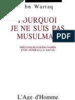 Ibn Warraq | Pourquoi Je Ne Suis Pas Musulman |