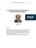 SOLUÇÕES PARA PAREDES DE ALVENARIA EM TIJOLO CERÂMICO E A NOVA REGULAMENTAÇÃO