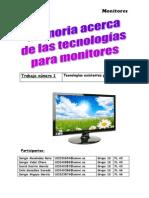 Trabajo sobre  Monitores del mercado