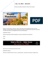 Weekly Watchman – Oct. 13, 2015 – 10/13/15