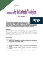 Seminario de Síntesis Teológica 2014-2015