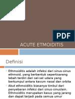 Acute Etmoiditis