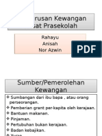 Pengurusan Kewangan Pusat Prasekolah