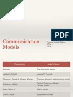 Communication Models Handout