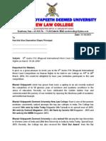Official Invitation Letter to Law Schools for Participation- 6th PNBIMCC