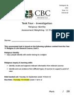 assessment 4 - religious identity - unit 2