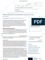Which Mutual Fund Market Cap Suits You