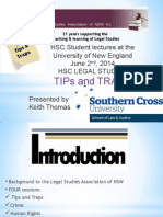 Tips and Traps HSC Day Legal Studies Day 2014