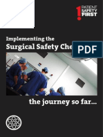 Implementing the Surgical Safety Checklist the Journey So Far 2010.06.21 FINAL