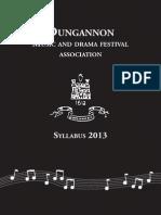 Dungannon M&D Syllabus 2013