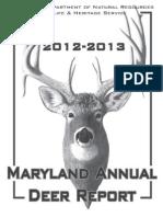 Md Annual Deer Report12-13