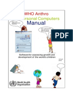 Panduan WHO Anthro2005
