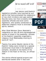 Evil in Kashmir Secreteriate