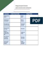 Social Marketing Strategy Development Worksheet