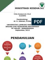 Prinsip Administrasi Kesehatan
