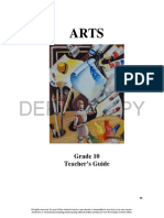 grade 10 arts