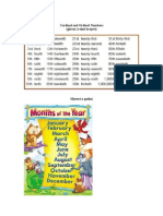 Cardinal and Ordinal Numbers, Months, Dates