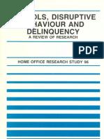 Schools, Disruptive Behaviour and Delinquency