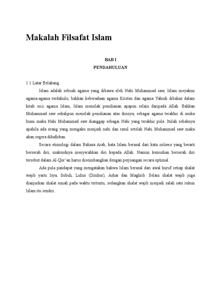 Makalah Filsafat Islam