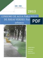 Informe de Consumo de Agua Para Riego de Áreas Verdes