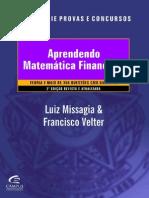 Aprendendo Matemática Financeira – Francisco Velter, Luiz Roberto Missagia