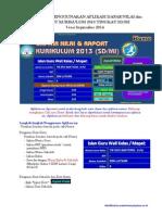 Petunjuk Penggunaan Aplikasi Raport SD MI Kur 2013