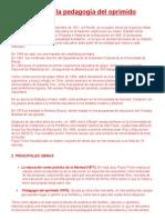 Paulo Freire y La PedagogÃ-A Del Oprimido