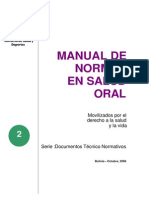 Manual de Normas en Salud Oral 2006