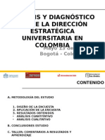 Analisis y Diagnostico Sobre La Direccion Estrategica Universitaria en Colombia