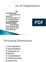 Dimensions of Organisation