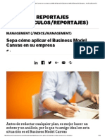 Sepa Cómo Aplicar El Business Model Canvas en Su Empresa