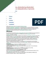 Eficiencia, Eficacia, Efectividad, Productividad, Competitividad en Administración y Operación