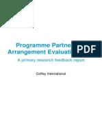 Programme Partnership Arrangement Evaluation 2014