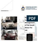 54589935 Supply Chain Management of Pak Suzuki Motor Pvt Ltd